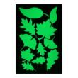 Foszforeszkáló dekor matrica, levelek