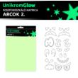 UnikromGlow foszforeszkáló dekor matrica - arcok 2.