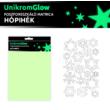 UnikromGlow foszforeszkáló dekor matrica - hópihék