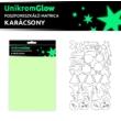 UnikromGlow foszforeszkáló dekor matrica - karácsony