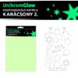 UnikromGlow foszforeszkáló dekor matrica - karácsony 2.
