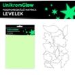 UnikromGlow foszforeszkáló dekor matrica - levelek
