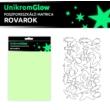 UnikromGlow foszforeszkáló dekor matrica - rovarok