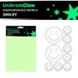 UnikromGlow foszforeszkáló dekor matrica - smiley
