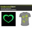 UnikromGlow foszforeszkáló vasalható matrica - szív