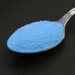 Foszforeszkáló pigment por - színezett - azúrkék