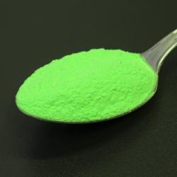 Foszforeszkáló pigment por - színezett - lime