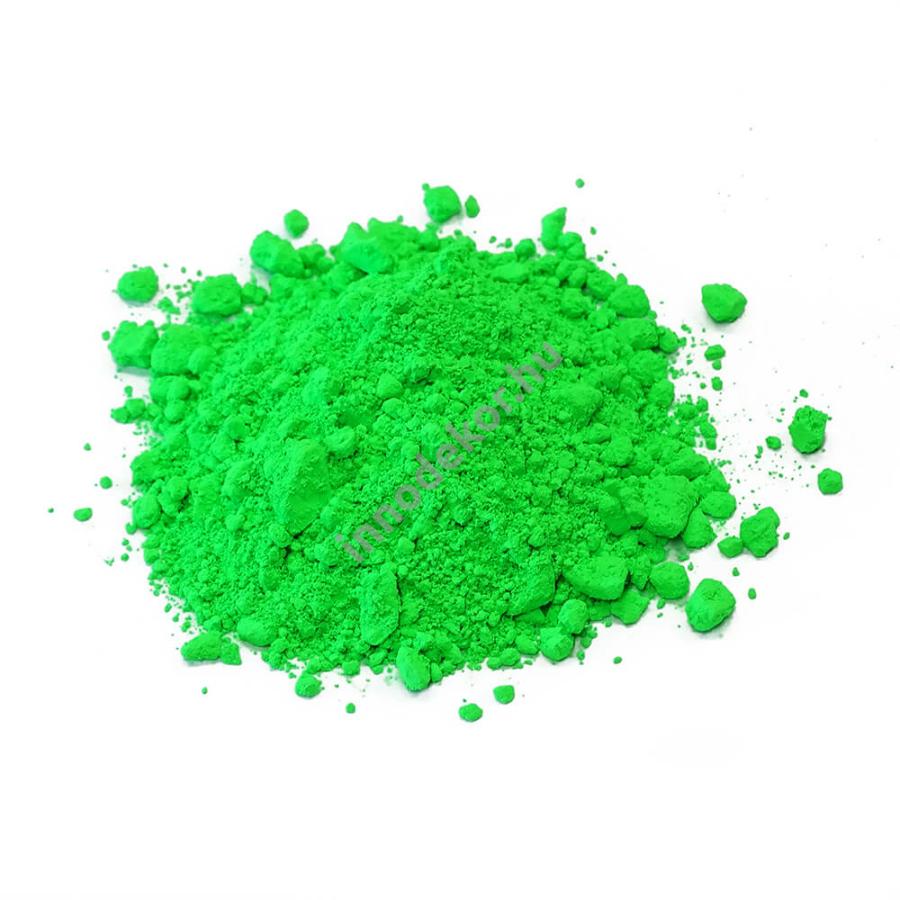 Innodekor fluoreszkáló (neon) pigment por - zöld, 10g