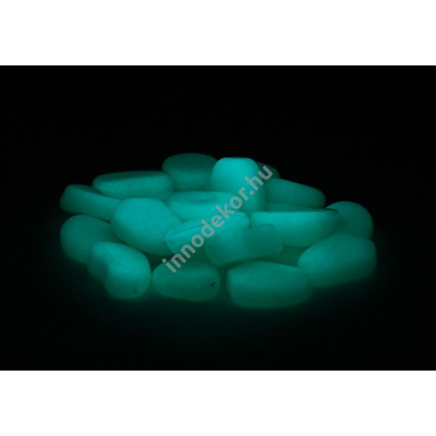 UnikromGlow foszforeszkáló dekor kavics - kicsi, vízkék