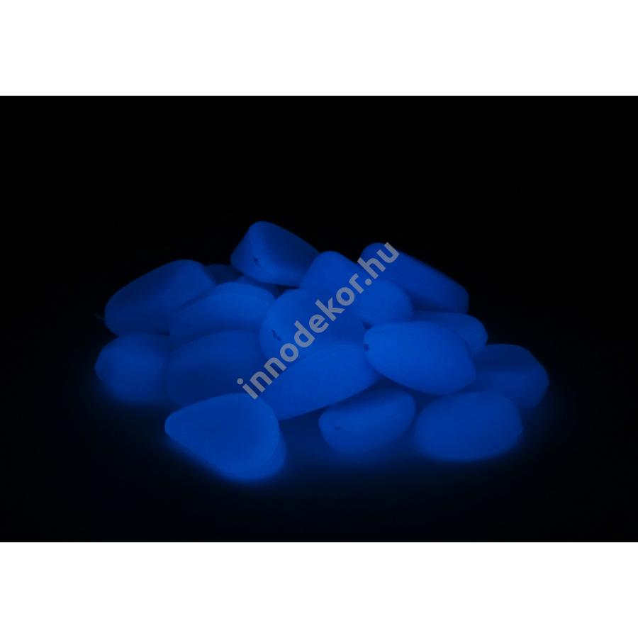 UnikromGlow foszforeszkáló dekor kavics - kicsi, azúrkék