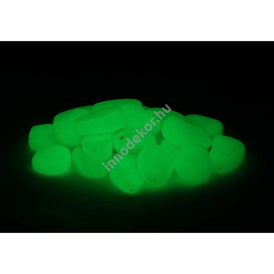 UnikromGlow foszforeszkáló dekor kavics - kicsi, neonzöld