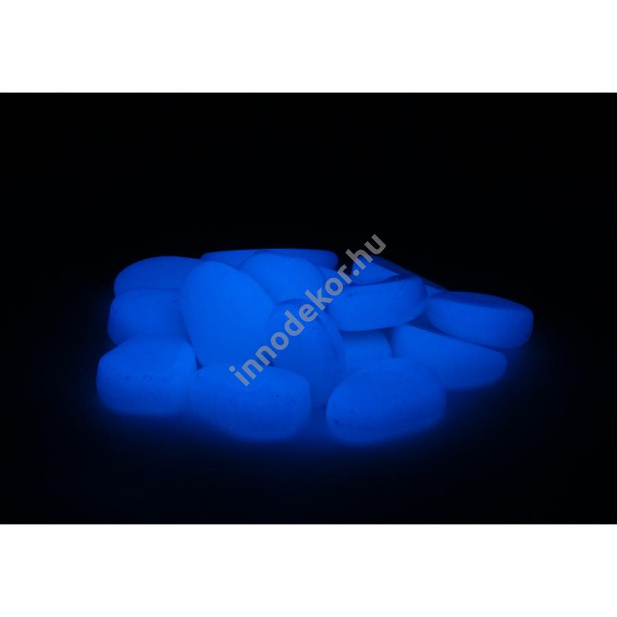 UnikromGlow foszforeszkáló dekor kavics - kicsi, égkék