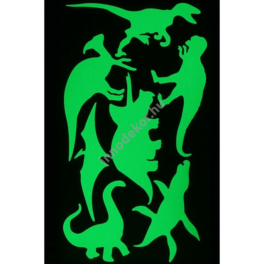 UnikromGlow foszforeszkáló dekor matrica - dinoszauruszok
