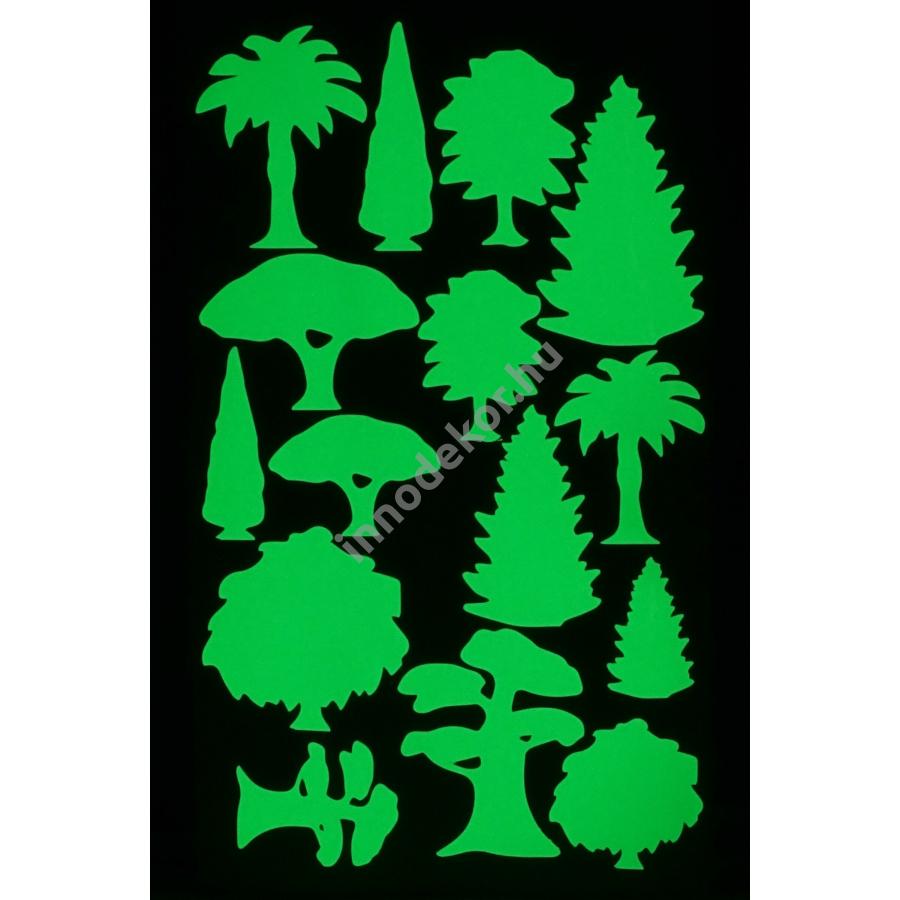 UnikromGlow foszforeszkáló dekor matrica - fák és bokrok