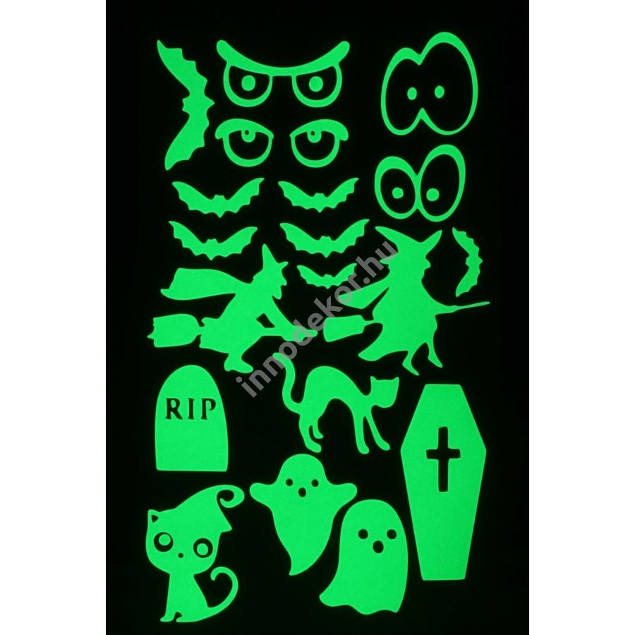 Innodekor foszforeszkáló dekor matrica - halloween 1.