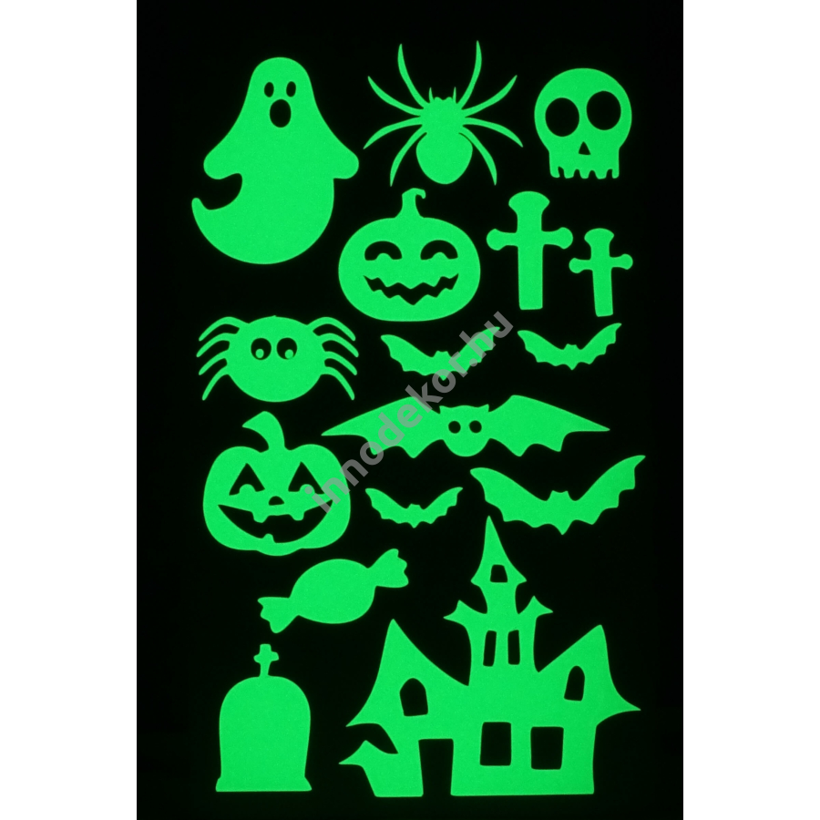 Innodekor foszforeszkáló dekor matrica - halloween 2.