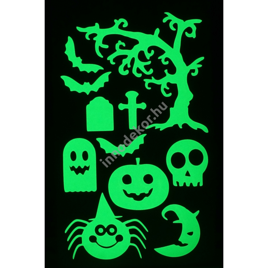Innodekor foszforeszkáló dekor matrica - halloween 3.
