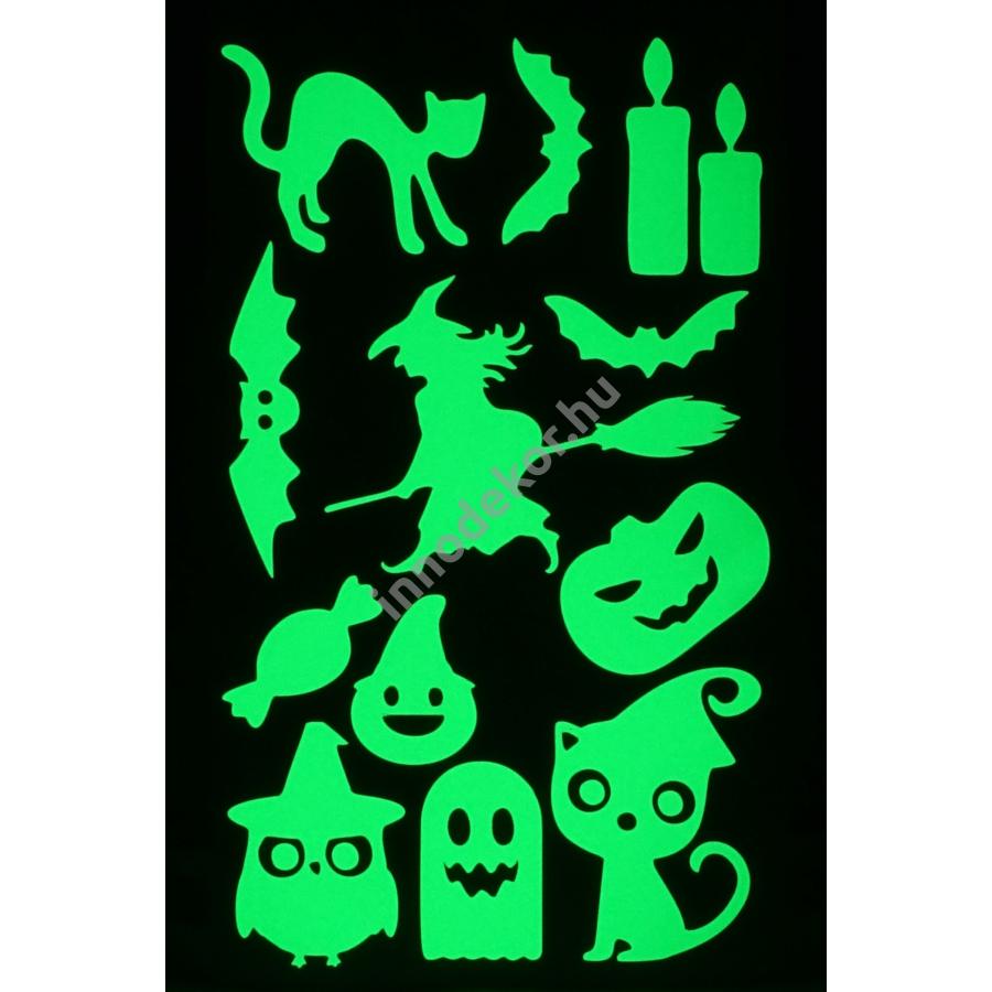 UnikromGlow foszforeszkáló dekor matrica - halloween 4.