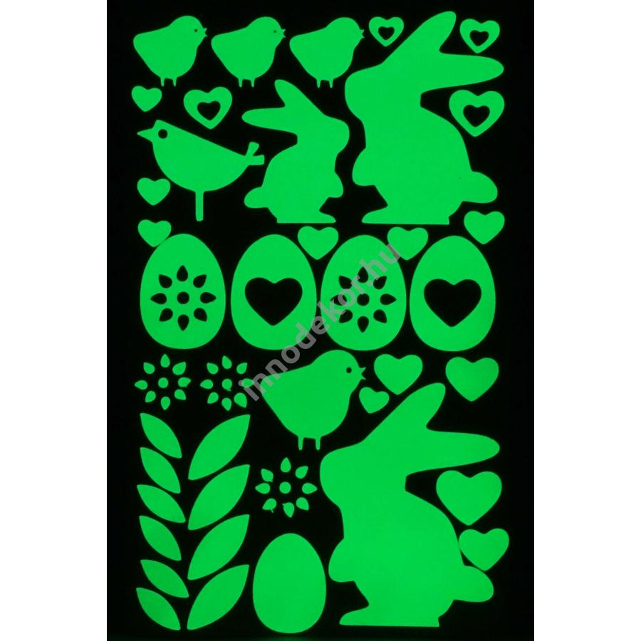 UnikromGlow foszforeszkáló dekor matrica - húsvét 1.