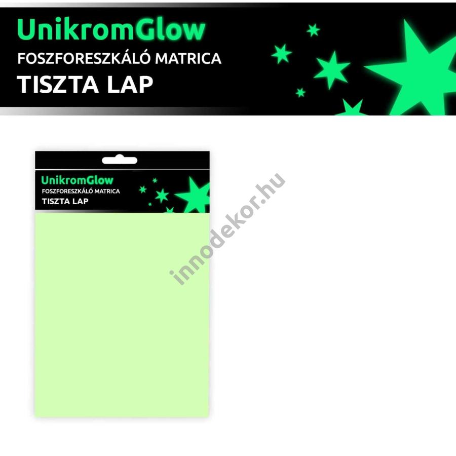UnikromGlow foszforeszkáló dekor matrica - tiszta lap