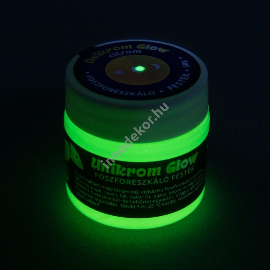 UnikromGlow foszforeszkáló festék - citrom, 30g