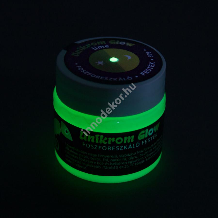 UnikromGlow foszforeszkáló festék - lime, 30g