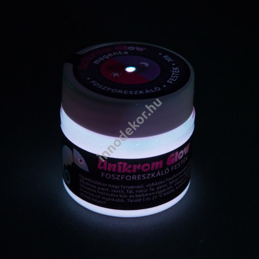 UnikromGlow foszforeszkáló festék - magenta, 30g