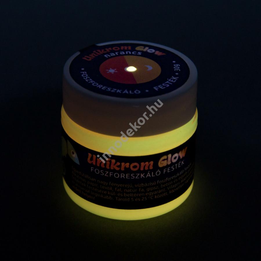 UnikromGlow foszforeszkáló festék - narancs, 30g