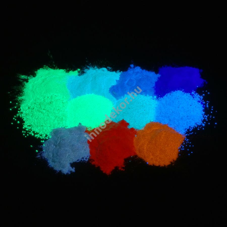 Foszforeszkáló effektpigment - színezetlen, teljes paletta, 20% kedvezménnyel!
