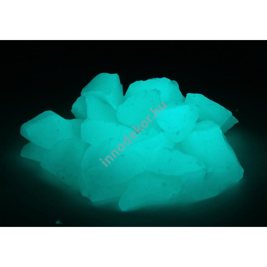 UnikromGlow foszforeszkáló üvegtörmelék - vízkék, nagy, 180g