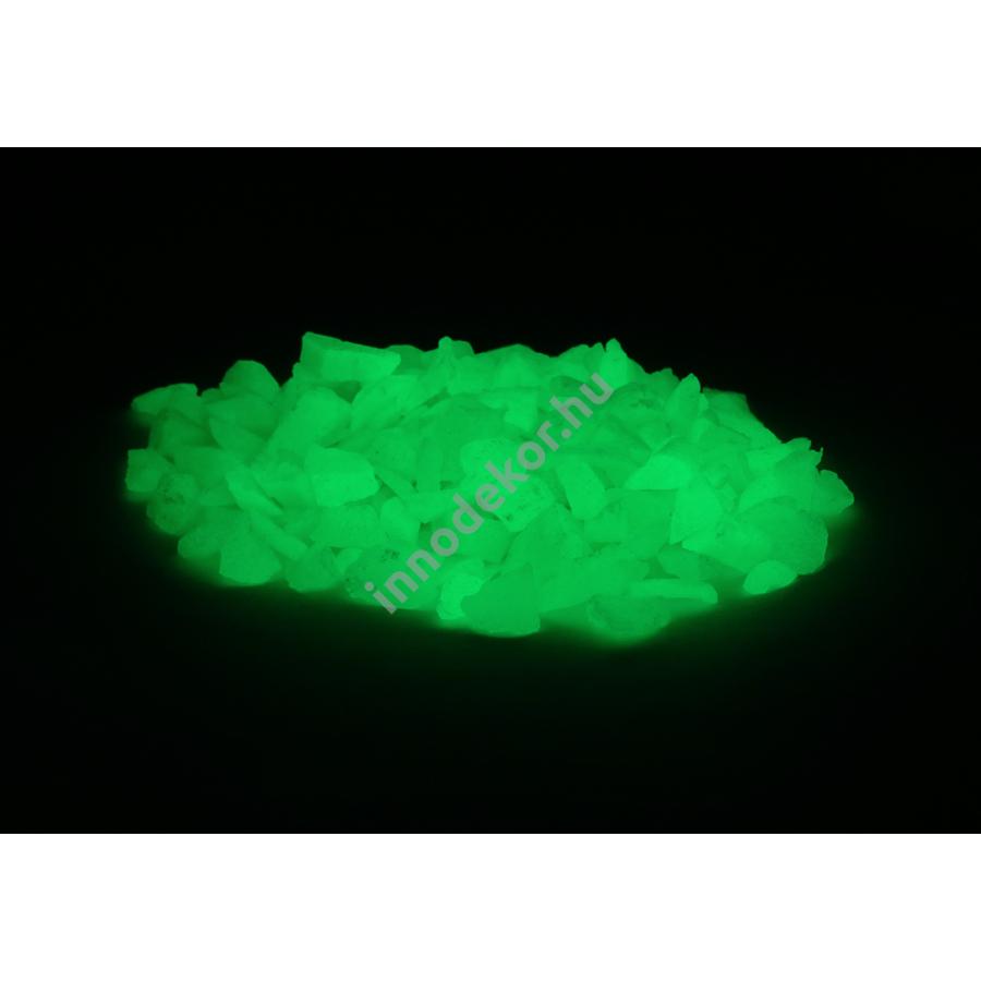 Innodekor foszforeszkáló üvegtörmelék - neonzöld, kicsi, 180g
