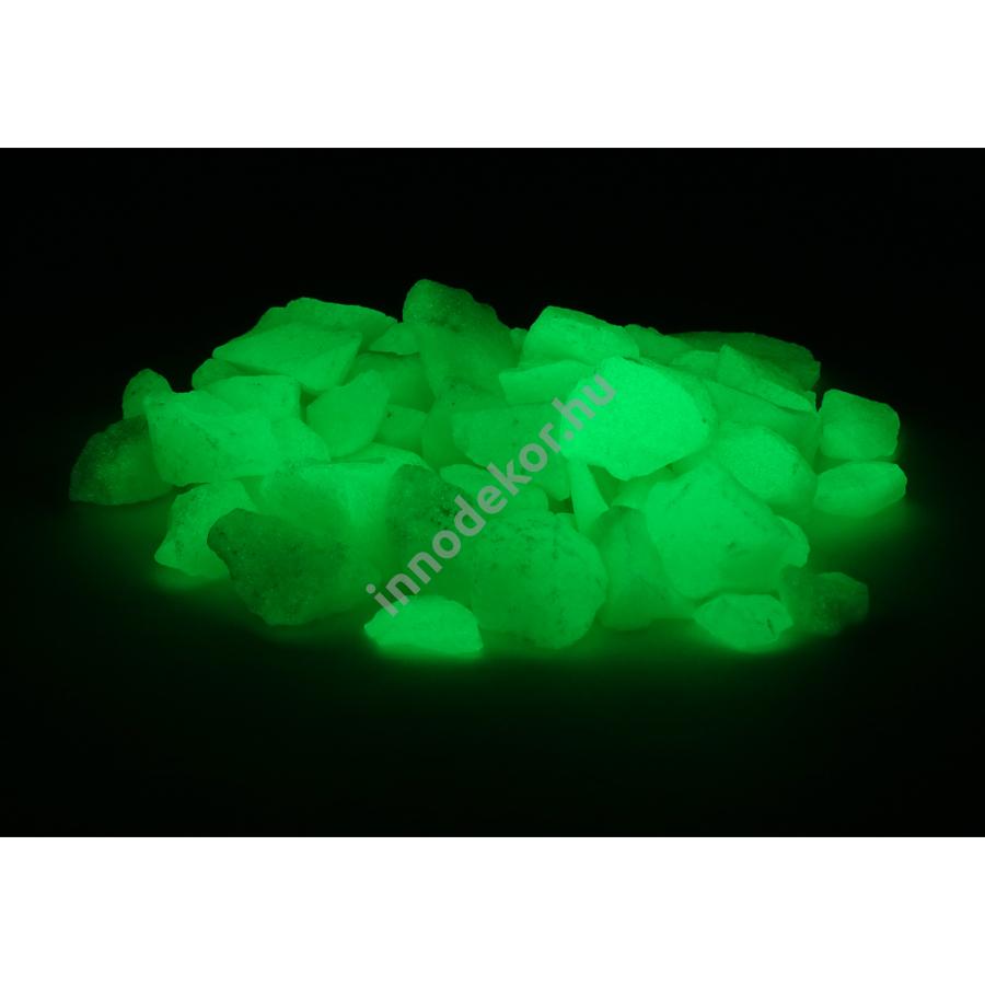 Innodekor foszforeszkáló üvegtörmelék - neonzöld, közepes, 180g