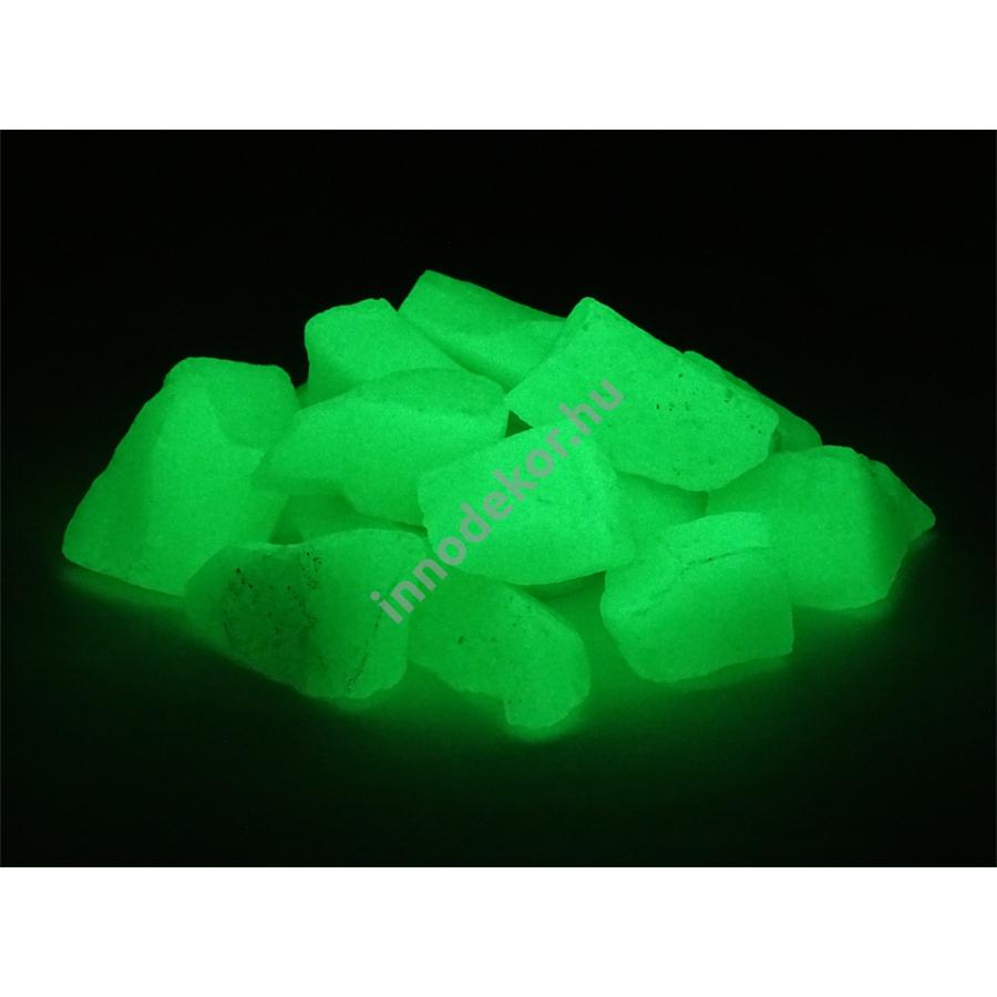 Innodekor foszforeszkáló üvegtörmelék - neonzöld, nagy, 180g