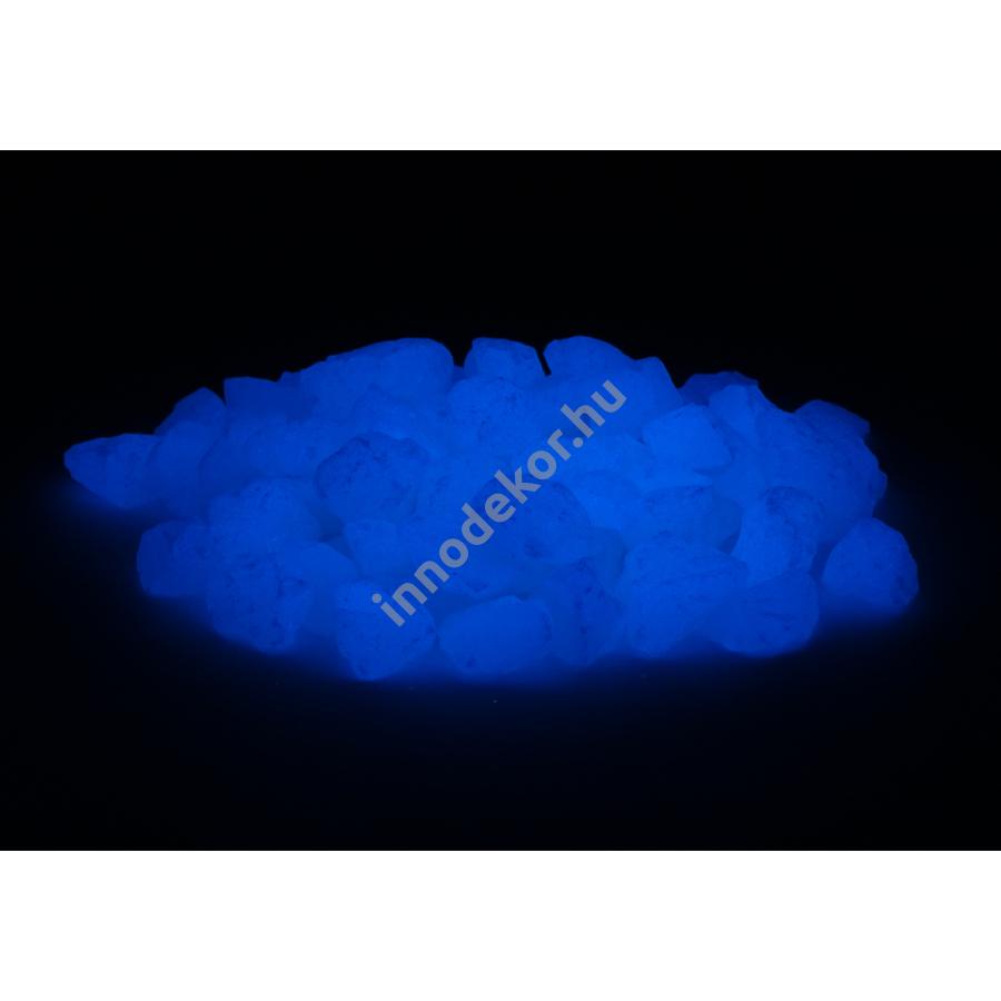 UnikromGlow foszforeszkáló üvegtörmelék - égkék, közepes, 180g