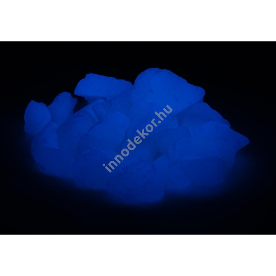 UnikromGlow foszforeszkáló üvegtörmelék - égkék, nagy, 1kg