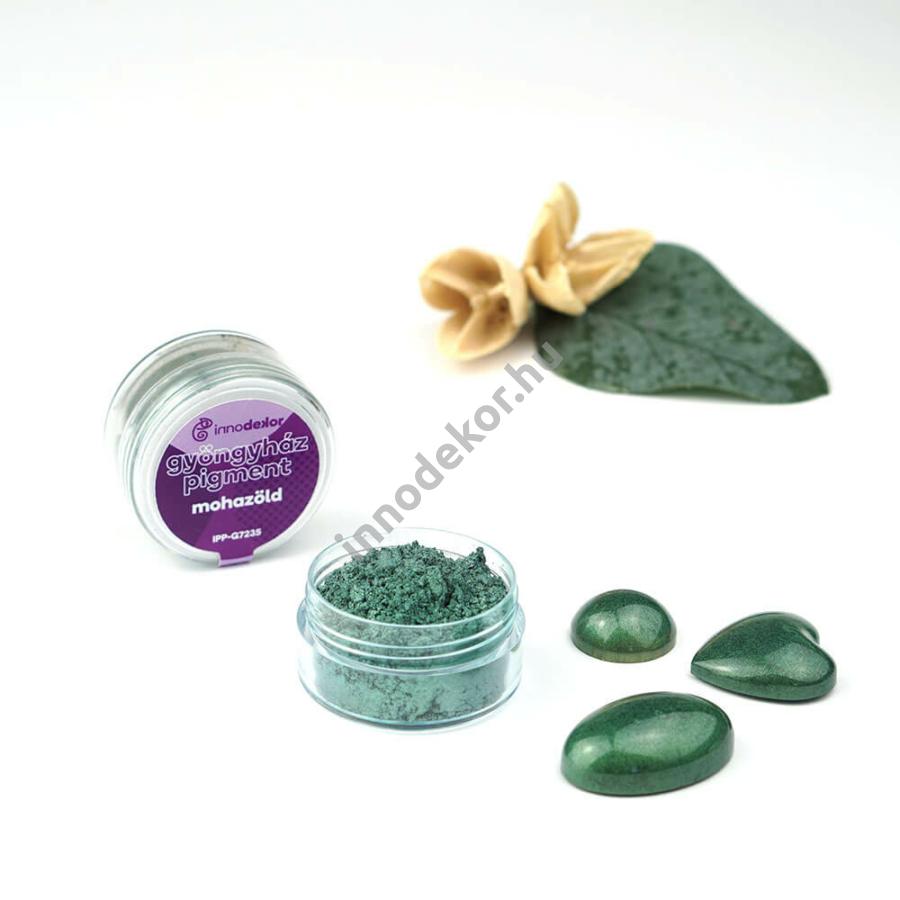 Innodekor gyöngyház hatású mica pigment por - mohazöld