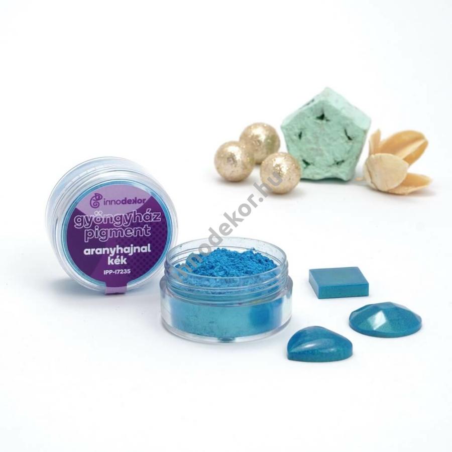 Innodekor gyöngyház hatású mica pigment por - aranyhajnal kék