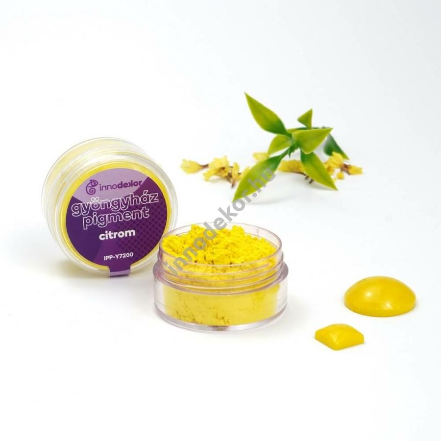Innodekor gyöngyház hatású mica pigment por - citrom