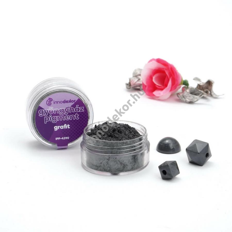 Innodekor gyöngyház hatású mica pigment por - grafit