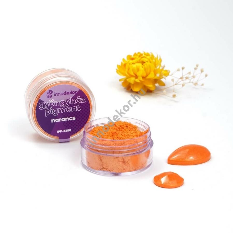 Innodekor gyöngyház hatású mica pigment por - narancs
