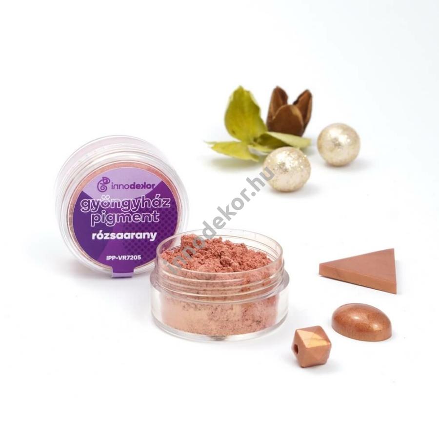 Innodekor gyöngyház hatású mica pigment por - rózsaarany
