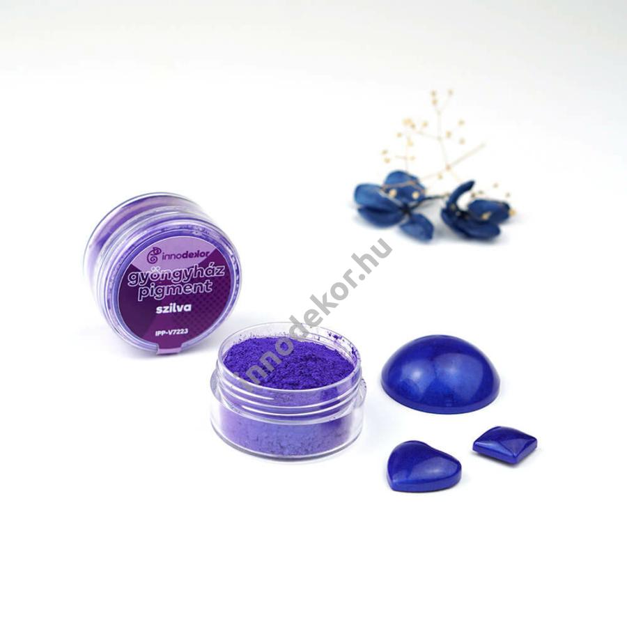 Innodekor gyöngyház hatású mica pigment por - szilva