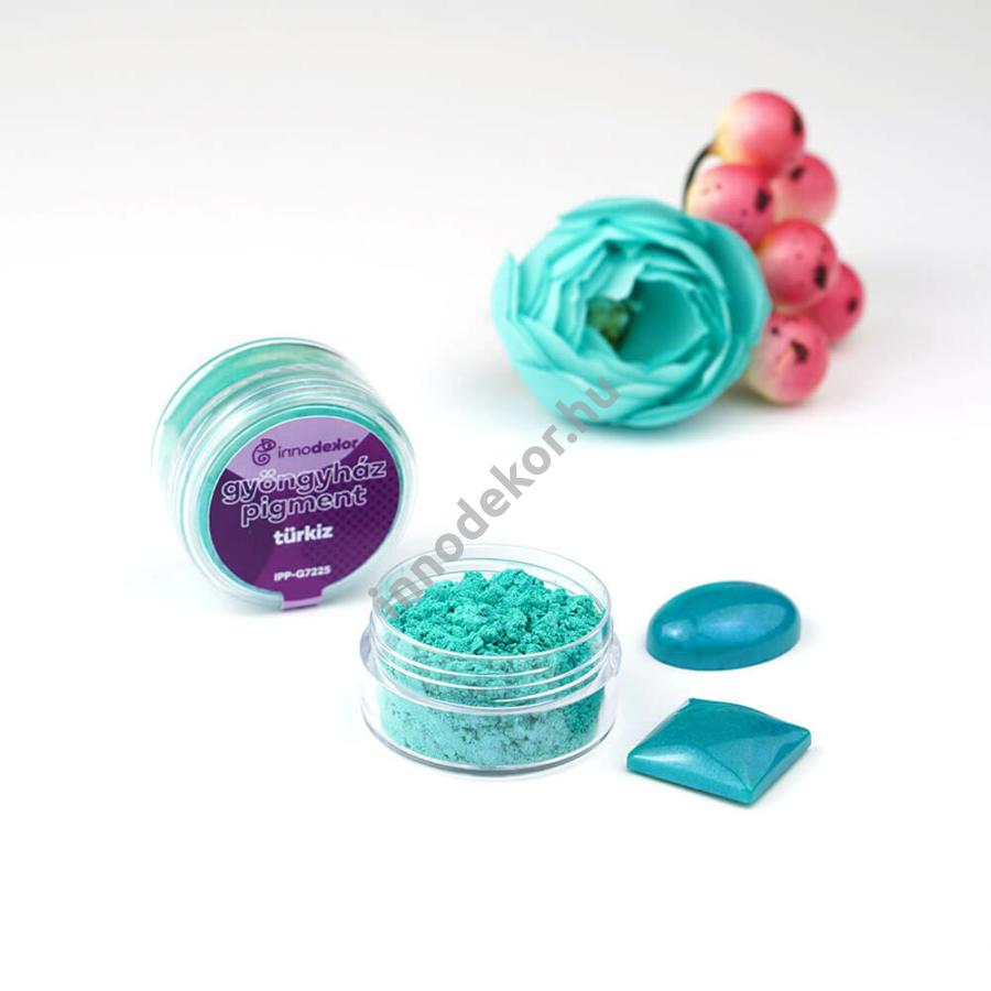 Innodekor gyöngyház hatású mica pigment por - türkiz