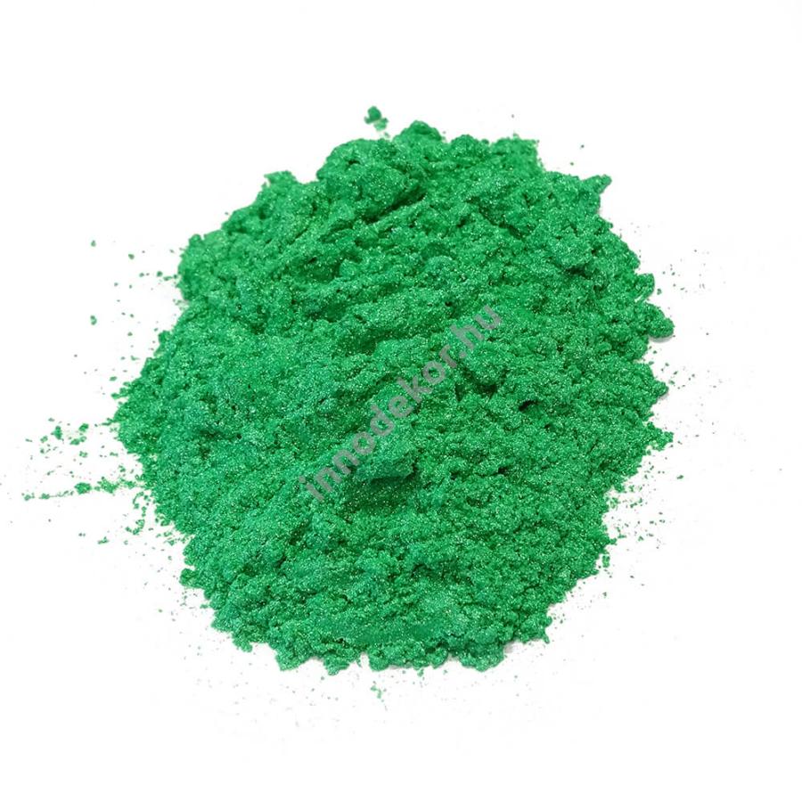 Innodekor gyöngyház hatású mica pigment por - smaragdzöld