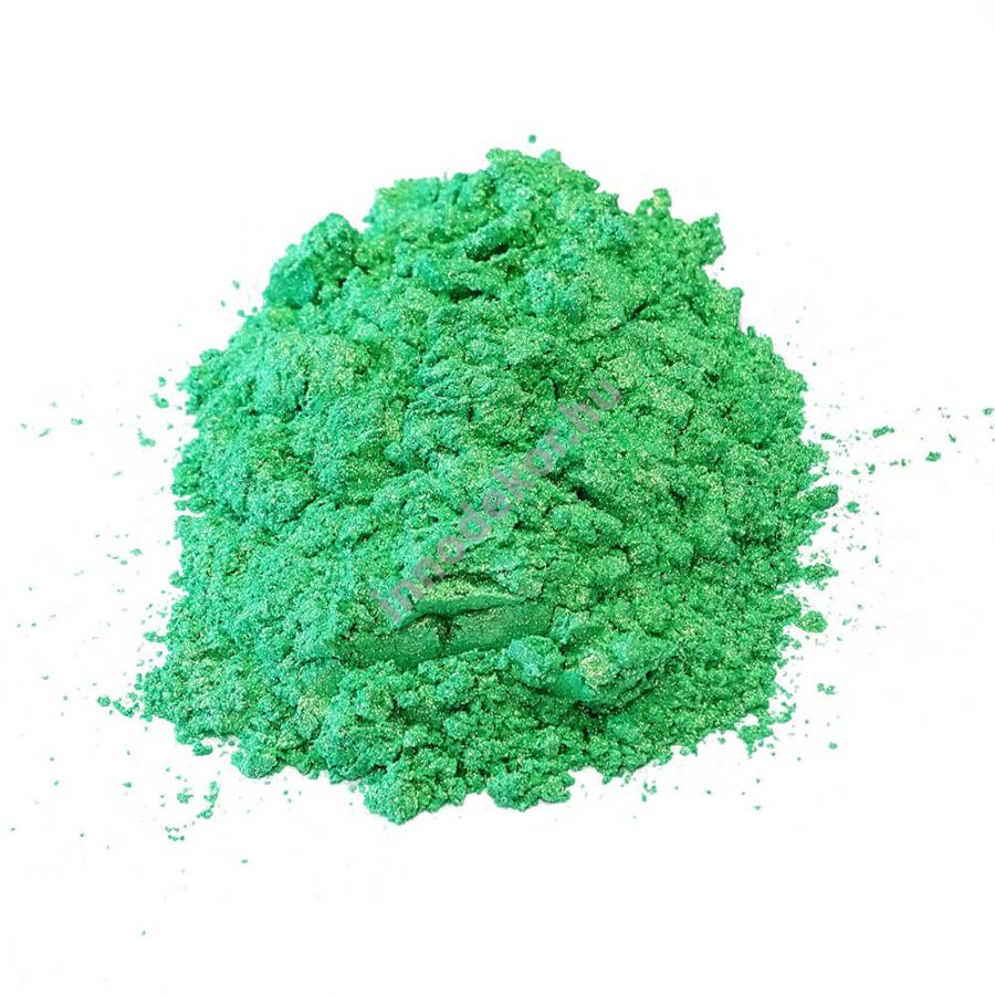 Innodekor gyöngyház hatású mica pigment por - aranybambusz zöld