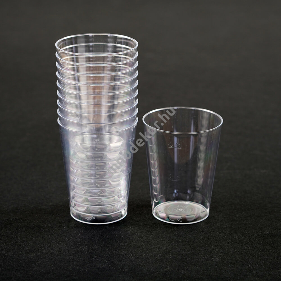 Műanyag keverőpohár műgyantához - 40ml, keményfalú, 10 darabos csomag