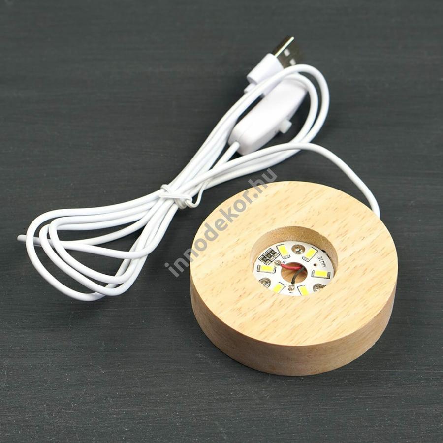 LED-es fa alap - fehér fényű