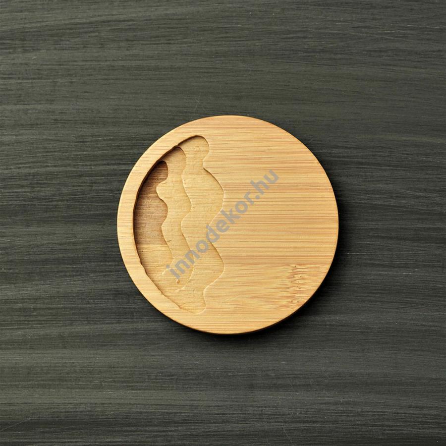 Bambusz alátét - kör alakú