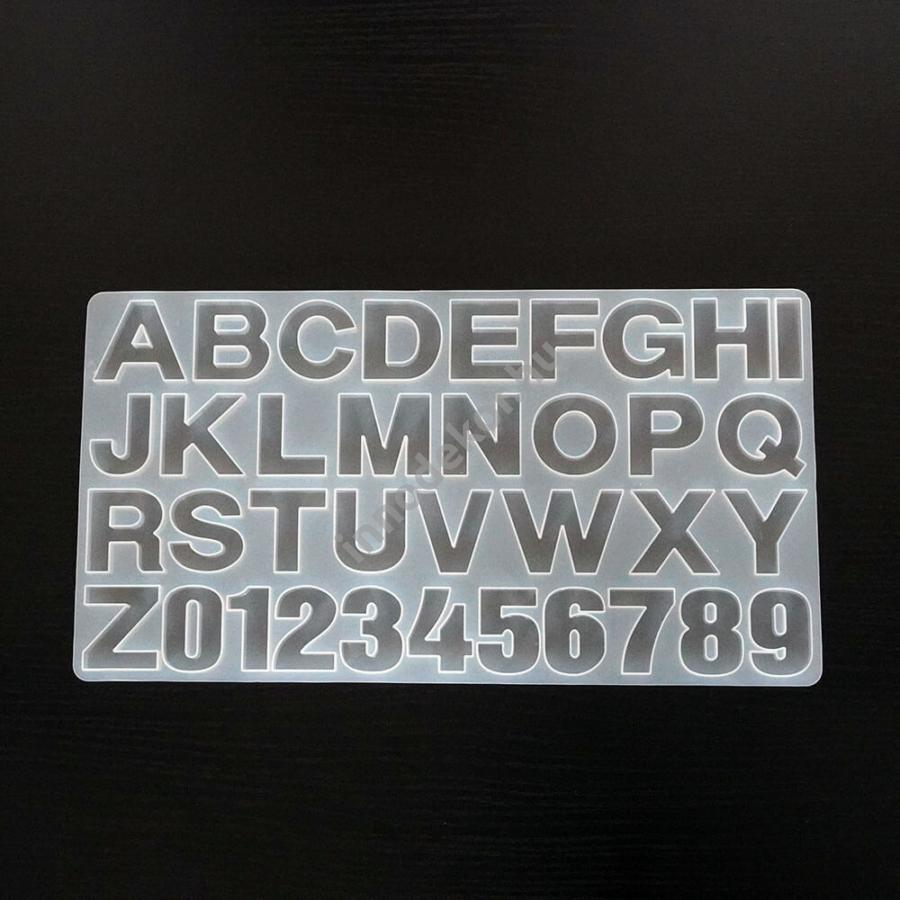 Öntőforma szilikonból - betűk és számok