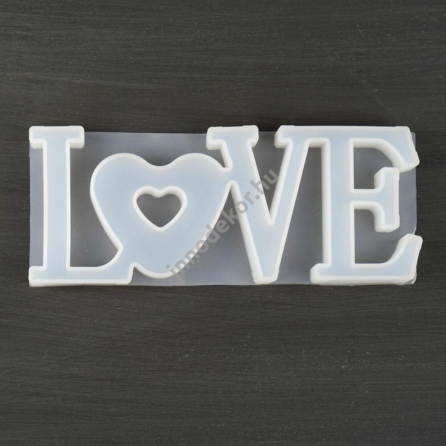 Öntőforma szilikonból - LOVE felirat
